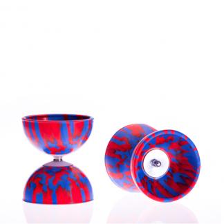 Diabolo Multicolor rot/blau