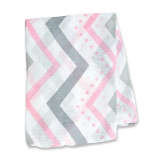 Swaddle Mulltuch Bamboo pink chevron