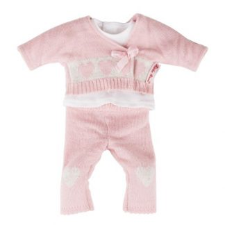 Strick-Outfit rosa