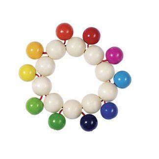 Greifling Elastik Regenbogen Perlen