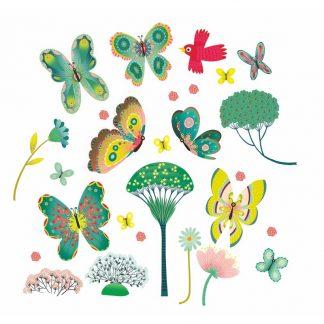 elektrostatische Stickers für das Fenster im Schmetterling Design