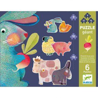 Riesenpuzzle 6 Tiere von Djeco