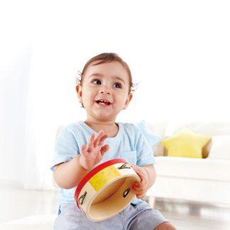 buntes Tambrin aus Holz für Kinder ab 1 Jahr