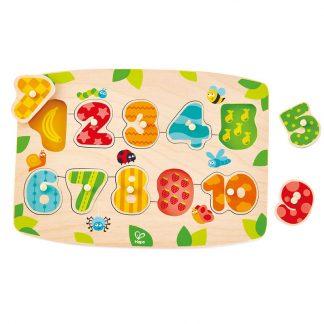 Steckspiel Zahlenpuzzle aus Holz