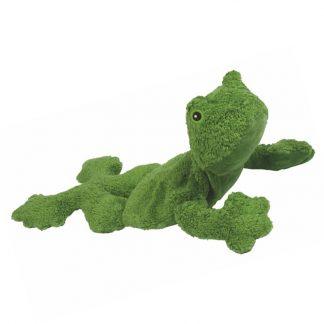 grüner Frosch aus Biobaumwolle mit Kirschkernkissen