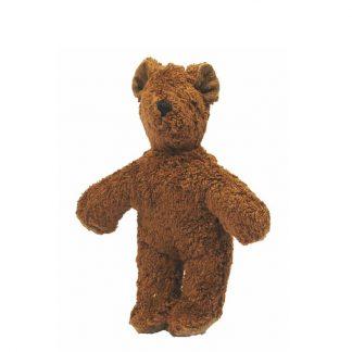 dunkelbrauner Bär aus Biobaumwolle