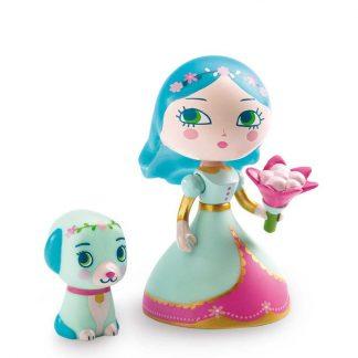 Prinzessin mit abnehmbaren Blumenstrauß und Hündchen