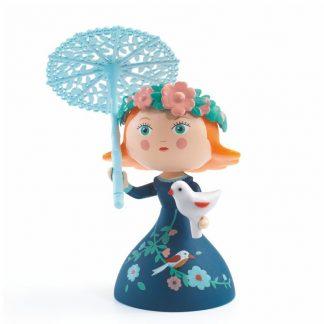 Spielfigur Prinzessin mit Vogel in der Hand