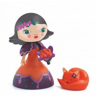 Prinzessin mit abnehmbaren Blumenstrauß und Froschkönig