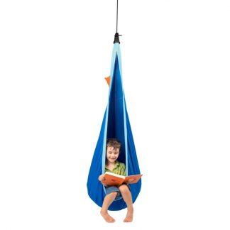 blaue Hängehöhle mit Netzstoff für Kinder von 3 bis  9 Jahren