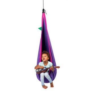 lila Hängehöhle mit Netzstoff für Kinder von 3 bis  9 Jahren