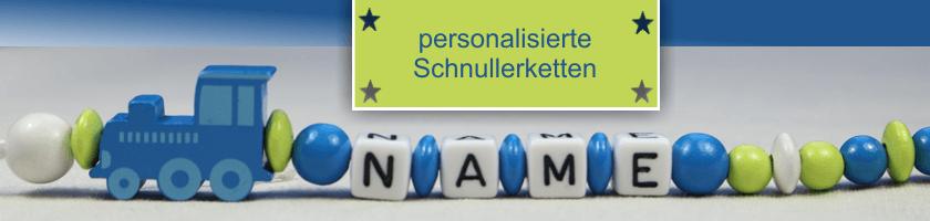 personalisierte Schnulleketten