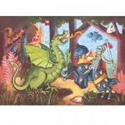 Puzzle Ritter und Drache