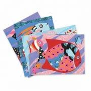 Sandbild Farbenfrohe Fische