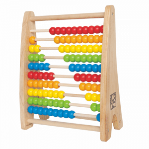10 Reihen mit 10 Kugeln in bunten Regenbogenfarben