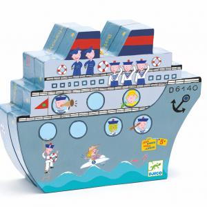 Navi Plouf Schiffe versenken für kleine Seefahrer magnetisch