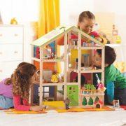 Puppenhaus Vier Jahreszeiten möbliert