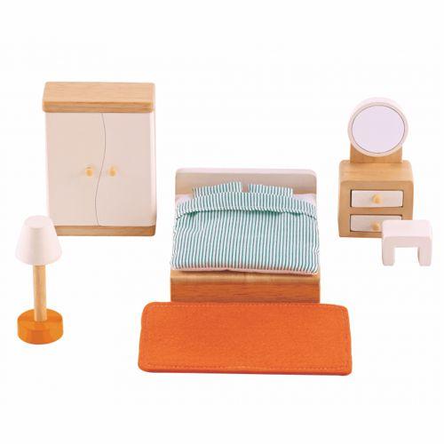 9-teiliges Zimmerset für das Puppenhaus