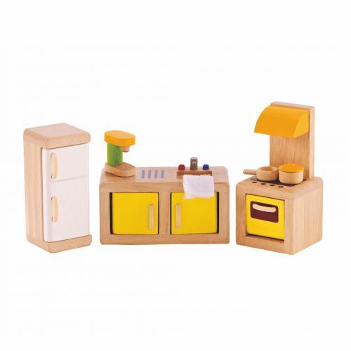 7-teiliges Zimmerset für das Puppenhaus