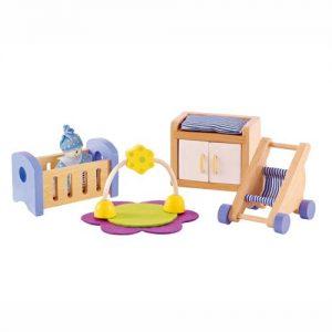 8-teiliges Zimmerset für das Puppenhaus