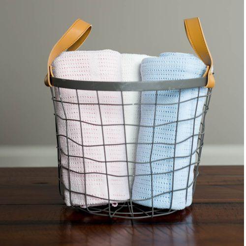 babydecke strick aus reiner baumwolle zum wohlf hlen und kuscheln. Black Bedroom Furniture Sets. Home Design Ideas