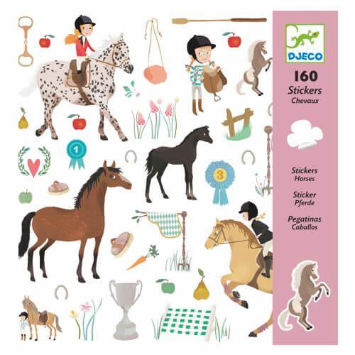 160 Sticker für Pferdefreunde