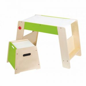 Tisch und Hocker - Hocker mit Klappe (Stauraum)