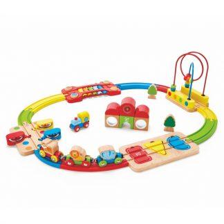 Regenbogen-Puzzle Eisenbahn-Set