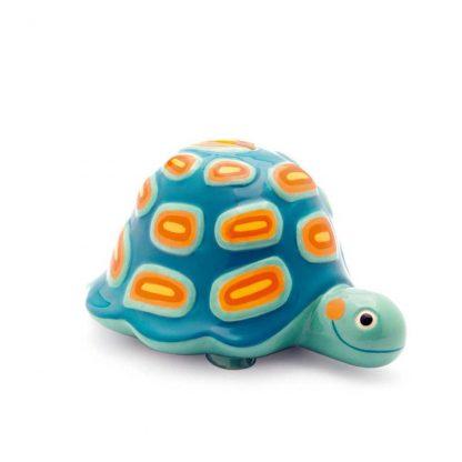 blau/oranger Schildkröte aus Keramik als Sparbüchse