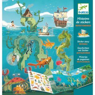 Stickermappe mit wiederverwendbaren Stickern - Thema Meeresabenteuer