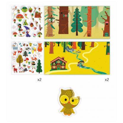 Stickermappe mit wiederverwendbaren Stickern - Thema Zauberwald