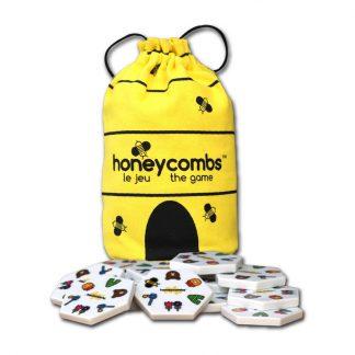 Honeycombs Legespiel im gelben Spielbeutel