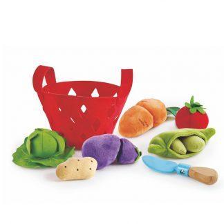 Körbchen mit Gemüse aus Filz