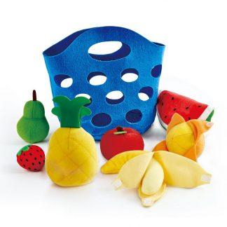 Korb mit sieben Stofffrüchten
