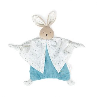 Schmusetuch Hase blau
