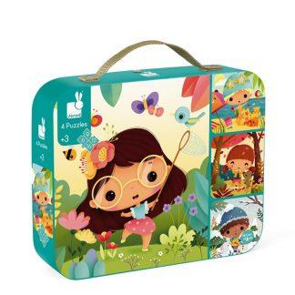 Koffer mit Puzzle Jahreszeiten