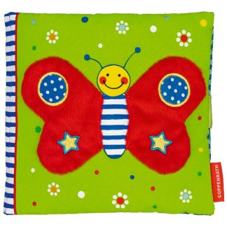 Textilbuch mit Schmetterling