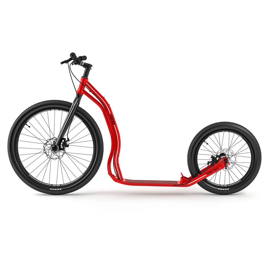 Yedoo Trexx Rot ALU Roller Scheibenbremsen Side