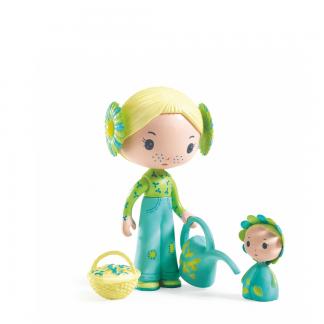 Tinyly Spielfigur mit Blume, Gießkanne und Körbchen