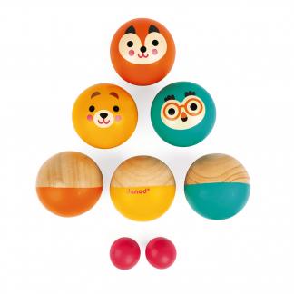 Boule Holzkugeln mit Tiermotiven
