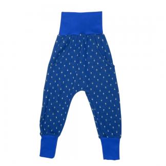 Hapilu Hose mit Seitentaschen dunkelblau Blumen 80-100